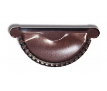 Заглушка желоба Акведук Премиум 125 мм коричневый RAL 8017