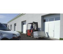 Промислові секційні ворота KRUZIK Base + з лебідкою 4000х3500 мм