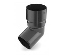 Колено трубы Bryza 100 67 градусов 90,2х145х84,5 мм графит