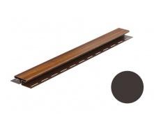 Монтажная планка для софита Galeco DECOR тип H 4000 мм темно-коричневый