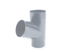 Тройник 67° Galeco PVC150 100 мм (SP100-TR067-A) (RAL7038/серый агат)