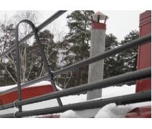 Ограждение кровли со снегозадержателем 3 м