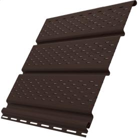 Софит Ю-ПЛАСТ перфорированный 3 м коричневый