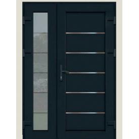 Металопластикові фасадні двері SP-77 1200х2050 мм антрацит