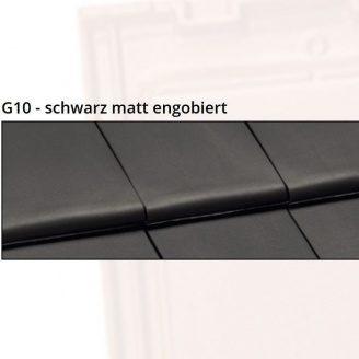 Керамічна черепиця NELSKAMP G10 48,6х29,6 см schwarz matt engobiert