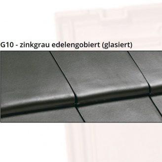 Керамічна черепиця NELSKAMP G10 48,6х29,6 см zinkgrau edelengobiert (glasiert)
