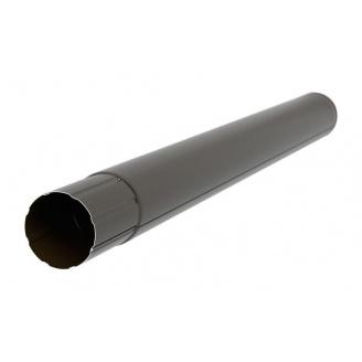 Труба Акведук Премиум 87 мм 1 м темно-коричневый RAL 8019