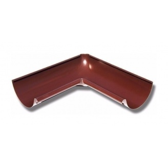 Внутренний угол желоба Акведук Премиум 90 градусов 125 мм коричневый RAL 8017
