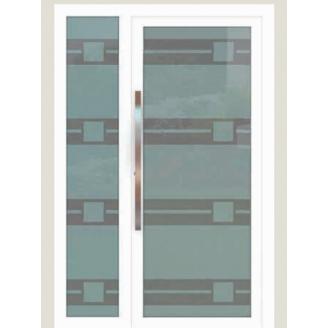 Алюмінієві фасадні двері m-2045