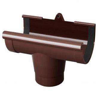 Воронка желоба Rainway 90х75 мм коричневая
