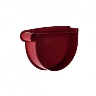 Заглушка воронки левая Rainway 90 мм красная
