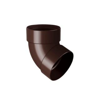 Отвод двухмуфтовый Rainway 67 градусов 75 мм коричневый