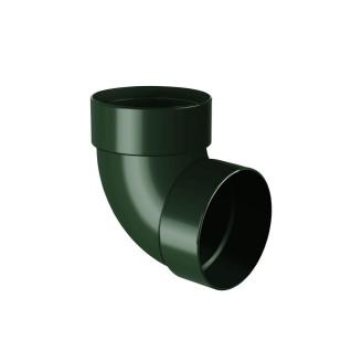Отвод двухмуфтовый Rainway 87 градусов 75 мм зеленый