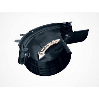 Внешний регулируемый угол 90-150° Galeco PVC130 130 мм (RE130-LZREG-P) (RAL7021/черно-серый)