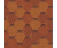 Битумная черепица Aquaizol Мозаика 320х1000 мм терракот