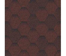 Битумная черепица Aquaizol Мозаика 320х1000 мм красный Еко
