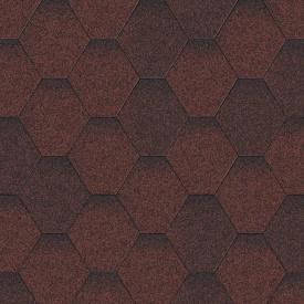Битумная черепица Aquaizol Мозаика 320х1000 мм Красная микс