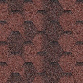 Бітумна черепиця Aquaizol Мозаїка 320х1000 мм червоний еко