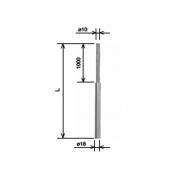 Блискавкоприймач складовою ø18/10x1,5 м AlMgSi KovoFlex