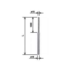Молниеприемник составной 18/10x1,5 м AlMgSi KovoFlex