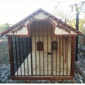 Вольєр дерев'яний Гюмрі для двох собак 2х4х2 м