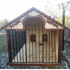 Вольер деревянный Гюмри для двух собак 2х4х2 м