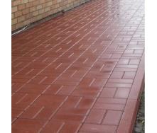 Тротуарна плитка Золотий Мандарин Цегла стандартний 200х100х40 мм на сірому цементі червоний