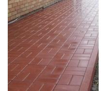 Тротуарна плитка Золотий Мандарин Цегла стандартний 200х100х80 мм на сірому цементі червоний
