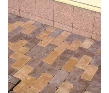 Тротуарная плитка Золотой Мандарин Роттердам Антик 250х120х65 мм персиковый на белом цементе