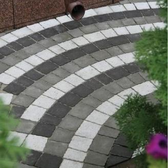 Тротуарна плитка Золотий Мандарин Креатив 60 мм на білому цементі білий