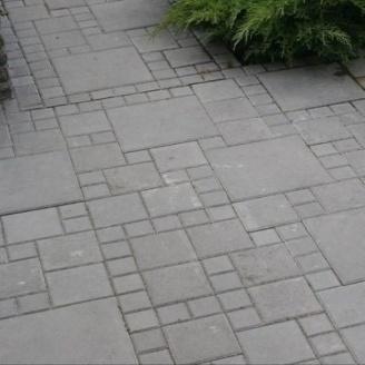 Тротуарная плитка Золотой Мандарин Квадрат большой 200х200х60 мм серый