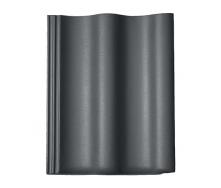 Цементно-піщана черепиця BRAAS Харцер Lumino 420х330 мм графіт