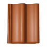 Цементно-піщана черепиця BRAAS Дабл S Lumino 420х330 мм кирпичний