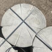 Тротуарная плитка на дорожки Срез Дерева 620х50 мм серая