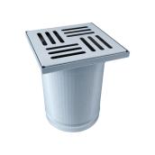 Надставний елемент TOPWET з нержавіючої сталі з хромованою решіткою