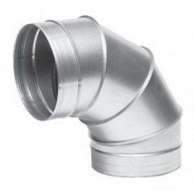 Отвод металлический оцинкованный 30 градусов