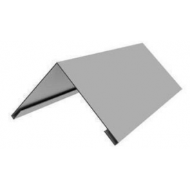 Конёк металлический оцинкованный плоский 100x100 мм 2 м