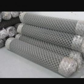 Сетка рабица оцинкованная 3 мм 5х5 см 1,5х10 м