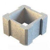 Столбовой элемент для заборного блока Континент сухопрессованный 32х32х18,8 см