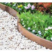 Монтаж пластикового садового бордюру