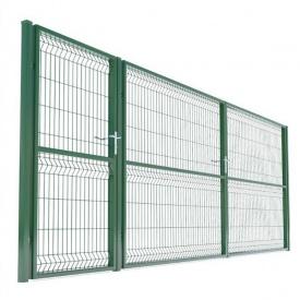 Распашные ворота Cтандарт 3D 1500х3000 мм зеленые