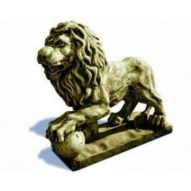 Фігура садова Континент Лев з кулею лівий бетонна