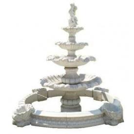 Фонтан садовий бетонний чотириярусний «Перлина» в малому басейні