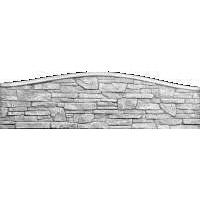 Плита еврозабора Континент Песчаник арка односторонняя бетонная глухая