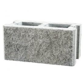 Заборный блок Континент сухопрессованный колотый 39х14х18,8 см