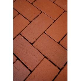 Тротуарная брусчатка БрукКерам клинкер 4,5 см Классика Рубин с термо замком