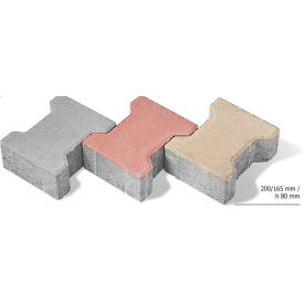 Тротуарная плитка Двойное Т бетонная сухопрессованная 8 см без фаски