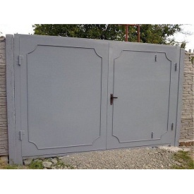 Распашные ворота из металла 3х2 м