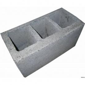 Шлакоблок стеновой Континент сухопрессованный 39х19х19 см с полкой