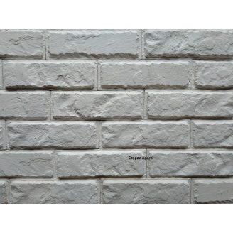 Гипсовый кирпич СТАРАЯ ПРАГА 8x24,5x1,5 см белая